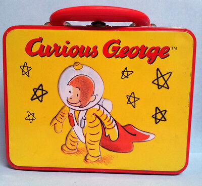 Vintage Curious George Astronaut Metal Lunchbox