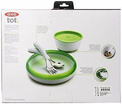 OXO Tot 4-Piece Feeding Set, Green