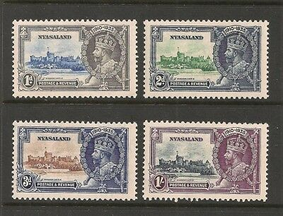 Nyasaland stamp set Scott# 47-50 Mint NH KGV Silver Jubilee