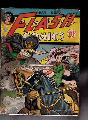 Flash cover 19 Hawkman Cover Glued Taped missing Center Fold Raymond Miller