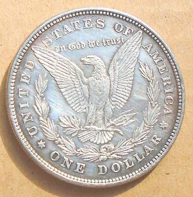1878 8TF Morgan Silver Dollar in AU Details - first year, only 750,000 minted
