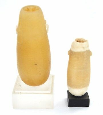 Two Ancient Egyptian Alabaster Cosmetic Vessels