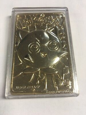 Pokemon 23k gold plated JIGGLYPUFF  Trading Card 1999