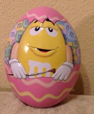 M&M 2016 Collectible Egg Shaped Easter Tin Limited Edition Excellent Condition