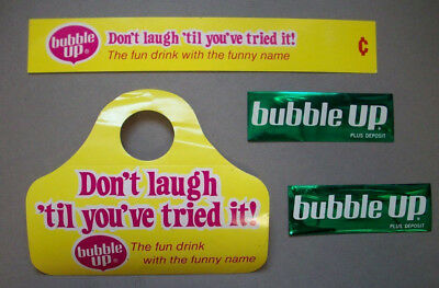 Bubble Up bottle neck ring advertising pieces