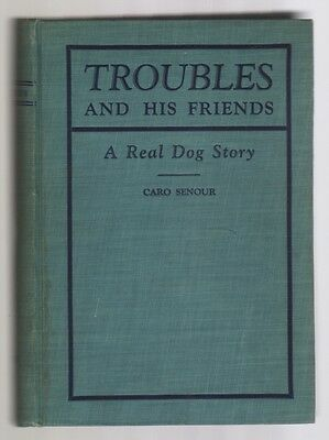 Troubles And His Friends Vintage Labrador Dog Story Illustrated Caro Senour 1926