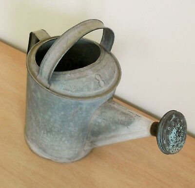 Vintage #8 Galvanized Metal Watering Can Country Primitive Yard Decor Planter