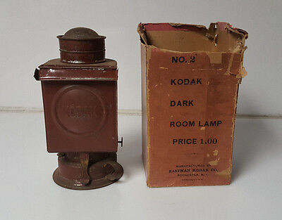 antique kodak dark room lamp Eastman Kodak oil burner light Orignal Box!
