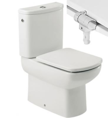 Roca Dama Senso & Compact Toilet Seat & Cover With Soft Closing Hinges In White