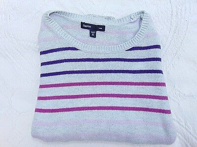 Gap Kid's Girls Sweatshirt Size 8 Medium Purple Pink Grey
