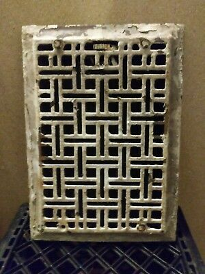 Antique cast iron heat register. Art deco style heat vent. 11 3/4 x 9 3/4