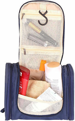 Hanging Toiletry Organizer Bag Travel Microfiber Heavy Duty Mesh Pockets Hooks