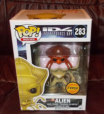 Funko Pop! MOVIES: ID4 INDEPENDENCE DAY: ALIEN #283 ~ CHASE LIMITED EDITION ~MIB