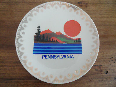 """Vintage State of Pennsylvania Mountains & Trees Scenic 7"""" Collector Plate"""