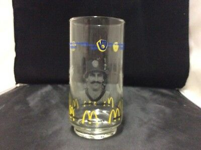 1982 Milwaukee Brewers McDonald's Glass Rollie Fingers Ted Simmons