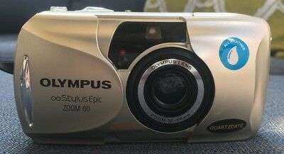 Olympus Stylus Epic Zoom 80 DLX 35mm Point & Shoot Film Camera with Strap