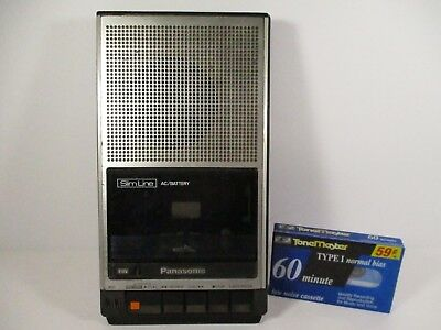 Vintage Panasonic Slim Line Portable Cassette Player Recorder RQ-2739 Working