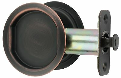 Citiloc Round Hall / Closet Passage Pocket Door Latch Oil Rubbed Bronze