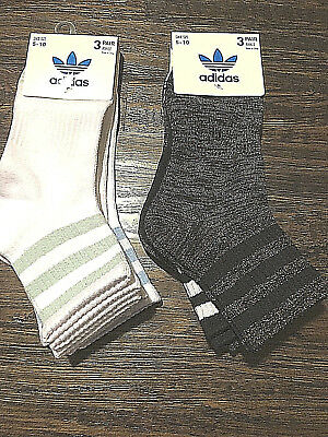 Adidas womens (moisture wicking yarn) 3 pack ankle sock size 5-10