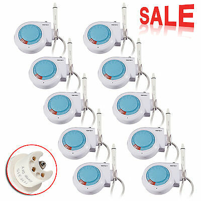 10 x Dental Ultrasonic Piezo Scaler Compatible EMS Woodpecker Handpiece tips USA