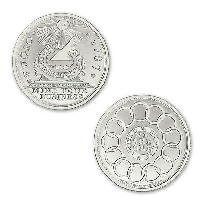Colonial Currency Series The Fugio Cent 2 oz .999 Silver Round USA Bullion Coin