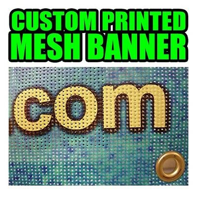 Custom Mesh Banner Full Color **FREE SHIPPING**