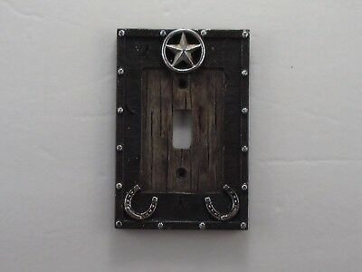 Western Star Horse Shoe Barn Wood Switch Plate Outlet Cover Rustic Home Decor