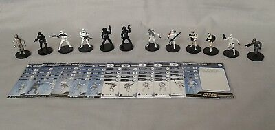 Star Wars Miniatures - Lot of 12 - Imperial Faction - 6 UC, 6 Common