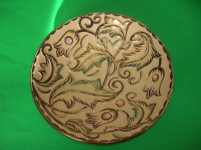 Wade Gothic Design Hand Painted Luster Dish Over 60 Years Heath England