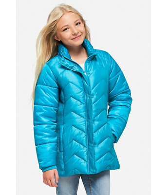Justice Water Resistant Jacket / Girls Jacket blue / Coat Size 8 /10 New w/ Tags