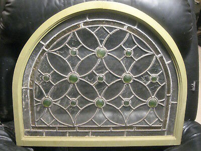 "Stunning! Antique Stained (Leaded?) Glass Window, Large 25"" x 21"" *Spectacular!*"