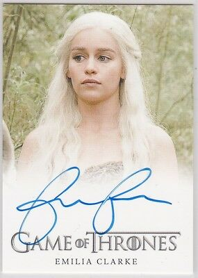 Game Of Thrones Season 2 Emilia Clarke As Daenerys Targaryen Autograph Very Lmtd