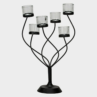 METAL Tree 6 Tealight CANDLE HOLDER Table Wedding Centerpiece HOME Decor NEW