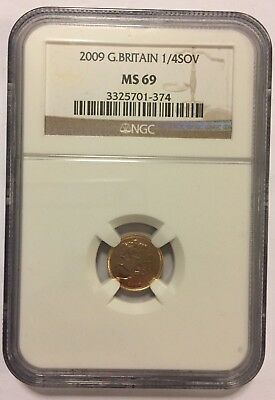 2009 Great Britain (UK) - 1/4 Sovereign Gold - MS 69 - NGC