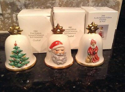 Goebel Christmas Ornaments Lot Of 3 - 1984, 1985, 2001 With Boxes