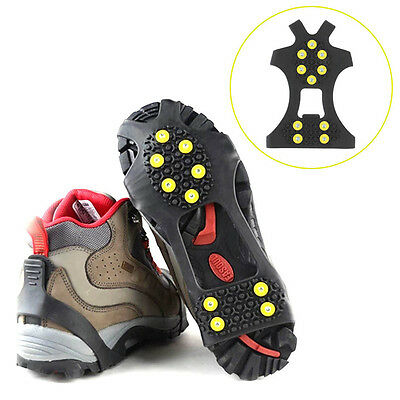 Ice Snow Mud Shoes Spike Grip Boots Chain Crampons Grippers Anti Slip FK