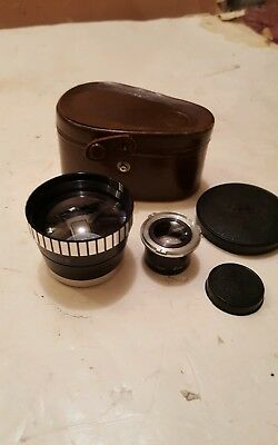 Sun Auxiliary Model 66 Telephoto Lens/Viewer Set In Case for Rolleiflex Camera