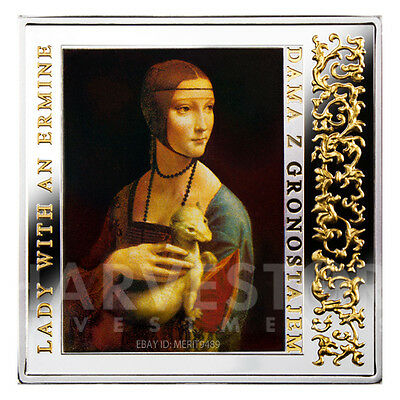2012 Silver Masterpieces Of The Renaissance - Lady With An Ermine - Proof Silver