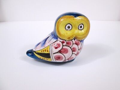 Vintage porcelain ceramic Owl figurine marked Orvieto possibly made in Italy