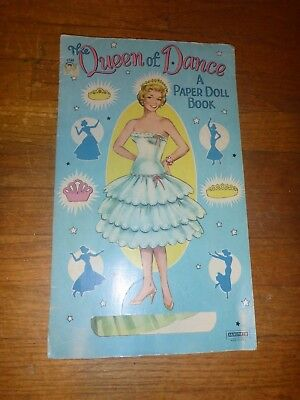 Queen of the dance paper dolls from the 1950s
