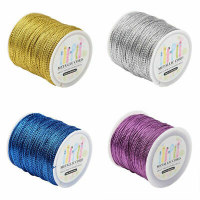 109yds/Roll Multi-Purpose Jewelry Braided Metallic Cords Tiny String Threads 1mm