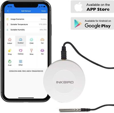 Inkbird Monitor Temperature Humidity Recorder Data Logger Bluetooth Refrigerator