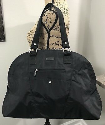 BAGGALLINI Travel Bag Tote Large Carry On Black Duffle NEW