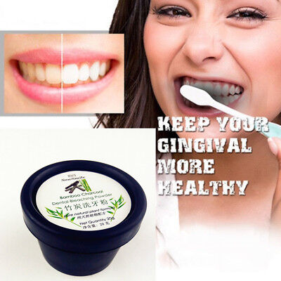 Teeth Whitening Natural Powder Organic Activated Charcoal Bamboo Toothpaste