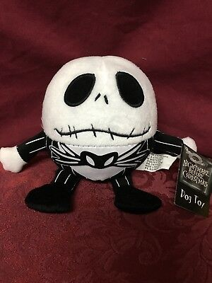 NEW W TAG Nightmare Before Christmas Dog Toy Squeaky Plush Ball Jack Skellington