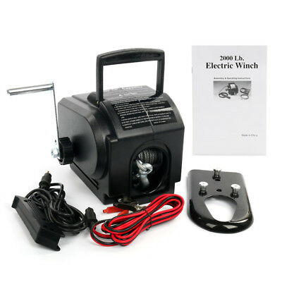 【Ships from CA】12V Electric Winch Boat/Truck 2000/3500/5000 LBS Load Capacity