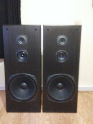 Vintage Kenwood JL774 JL-774 Floor Tower Speakers w/ Woofers