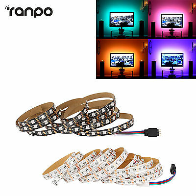5v Impermeable RGB TIRA DE LUCES LED 5050SMD TV PC Parte Trasera