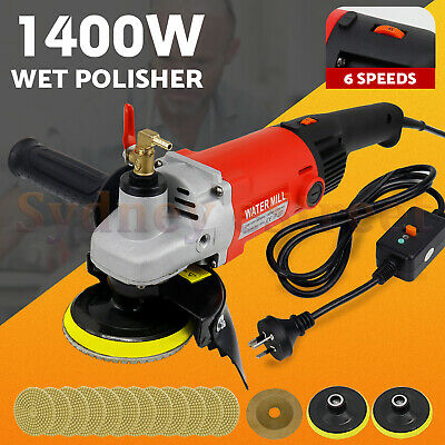 1400W WET Polisher Grinder Diamond Polishing Grit Pads Concrete Marble Granite