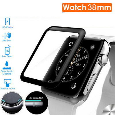 Full Cover 3D Tempered Glass Screen Protector Film For Apple Watch Series 3 38mm